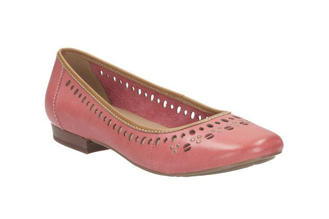 Clarks Henderson Hot D Fit Coral pink pumps