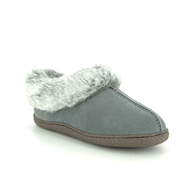 Clarks Slippers - Grey suede - 455784D HOME BLISS