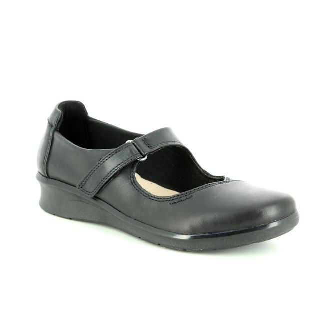 Clarks Mary Jane Shoes - Black leather - 3718/54D HOPE HENLEY