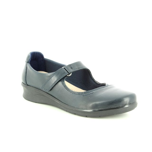 Clarks Mary Jane Shoes - Navy leather - 3717/74D HOPE HENLEY