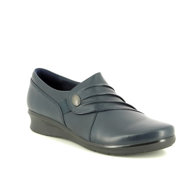 Clarks Comfort Shoes - Navy leather - 3720/34D HOPE ROXANNE