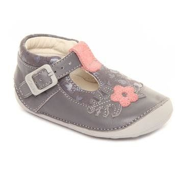 Clarks Ida Acorn F Fit Grey first shoes
