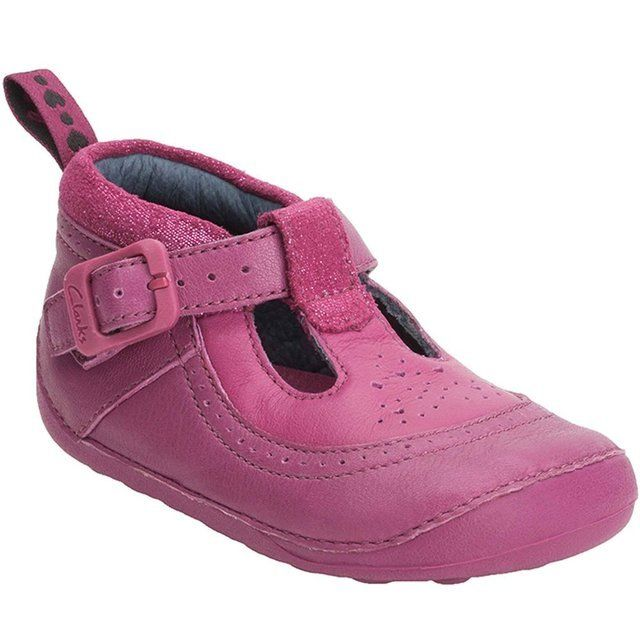 Clarks Ida Deliilah F Fit Fuchsia first shoes