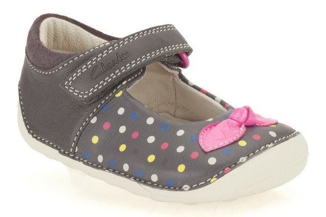 Clarks Ida Dotty G Fit Grey multi first shoes