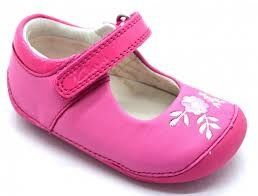 Clarks Ida Glam F Fit Pink first shoes