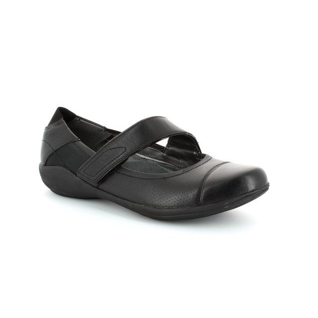 Clarks Indigo Charm D Fit Black comfort shoes