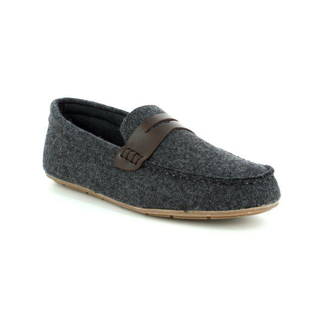 Clarks Slippers - Grey - 3075/37G INTERIOR CHEER