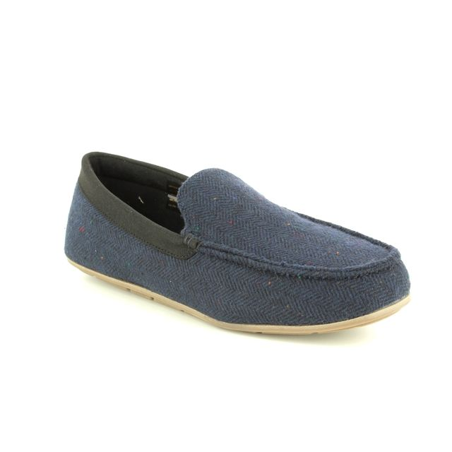 Clarks Interior Cheer G Fit Navy slippers