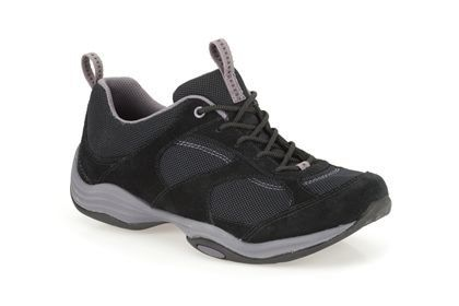 Clarks Inwalk Air D Fit Black lacing shoes