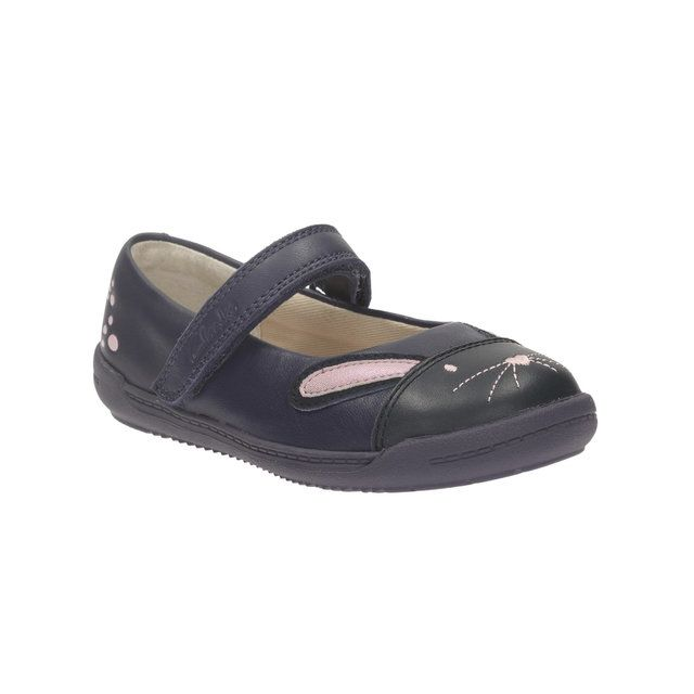 Clarks Iva Bunny Fst F Fit Navy first shoes