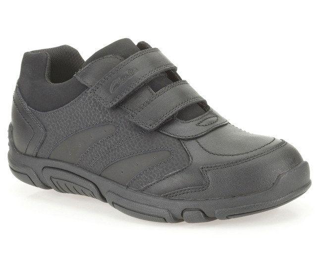 Clarks School Shoes - Black - 0077/88H JACK SPARK INF