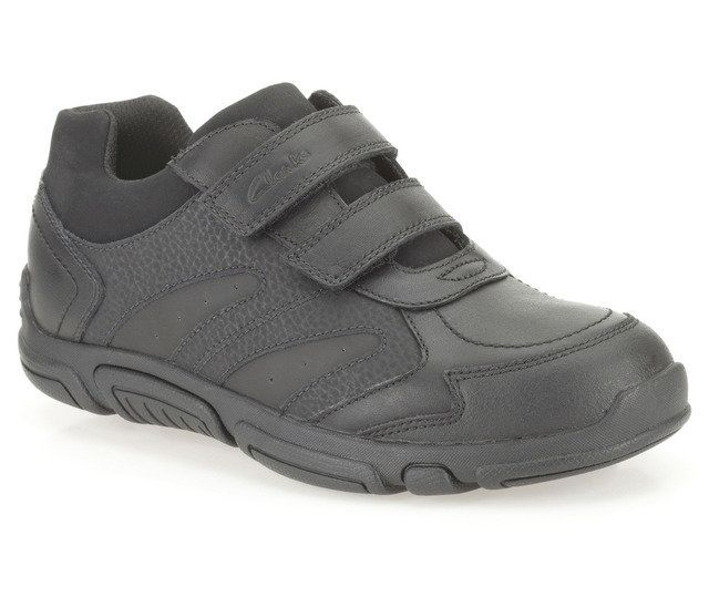 Clarks School Shoes - Black - 0078/35E JACK SPARK JNR