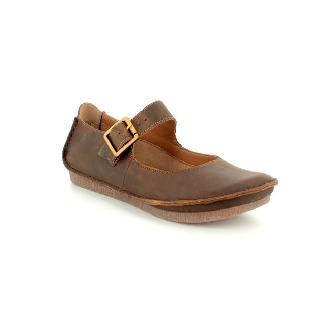 Clarks Mary Jane Shoes - Tan - 1331/34D JANEY JUNE