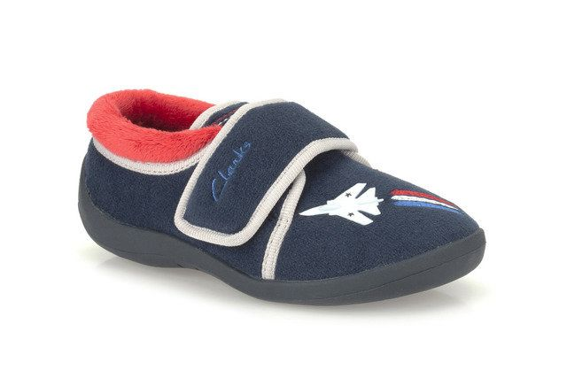 Clarks Jet Sleep G Fit Navy slippers