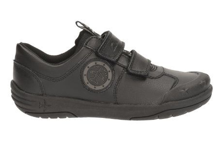 Clarks Jetsky Fun Inf F Fit Black school shoes
