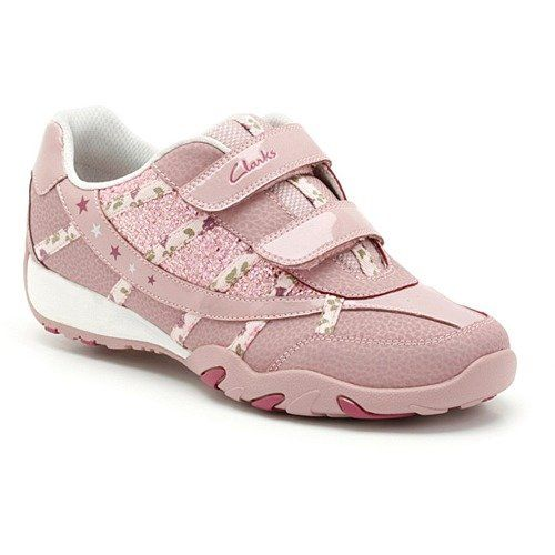 Clarks Jnr Daisybrite F Fit Pink trainers