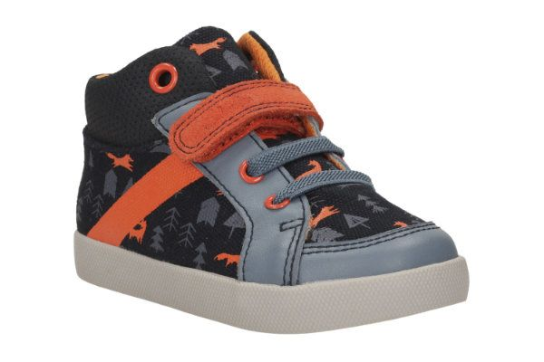 Clarks Juggle Zap Fst F Fit Blue multi first shoes