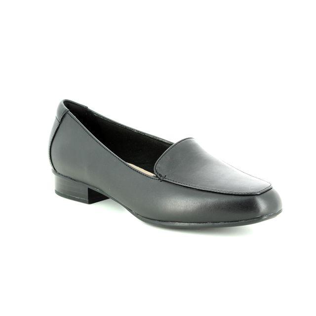 Clarks Juliet Lora E Fit Black leather loafers