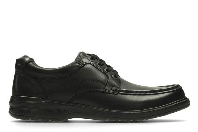 Clarks Keeler Walk H Fit Black casual shoes