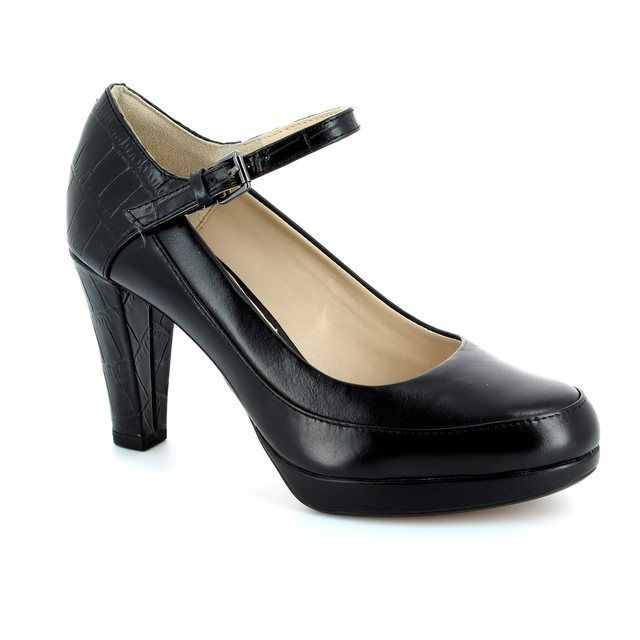 Clarks Kendra Dime D Fit Black high-heeled shoes