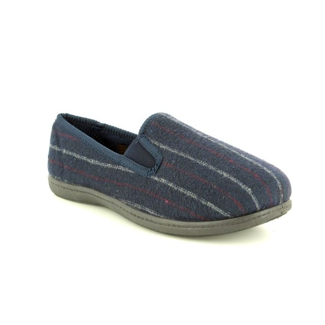Clarks King Twin G Fit Navy Multi slippers