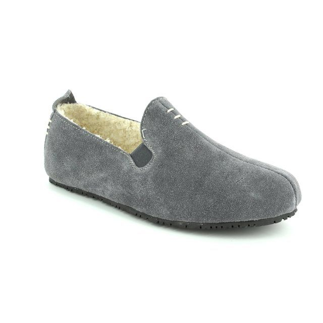 Clarks Slippers - Grey suede - 3041/37G KITE FALCON