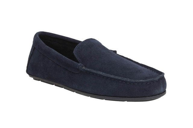 Clarks Kite Kindling G Fit Navy suede slippers