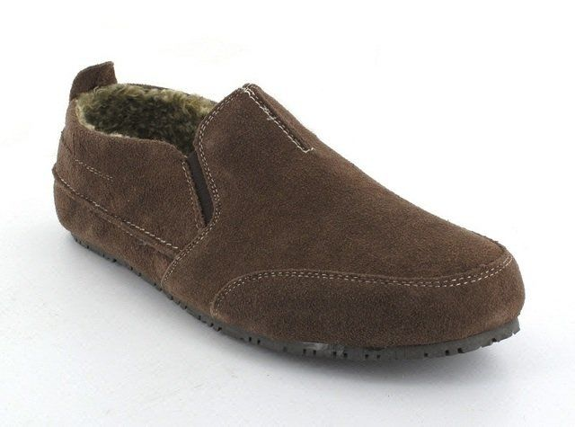 Clarks Kite Laser G Fit Brown suede or snake slippers