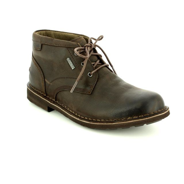 Clarks Lawes Mid GORE-TEX G Fit Dark Brown boots
