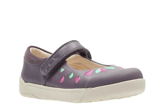 Clarks Everyday Shoes - Grey - 2364/76F LILFOLK PEG PR