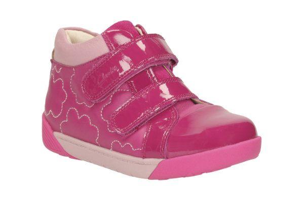Clarks Lilfolkemy Pre F Fit Pink boots