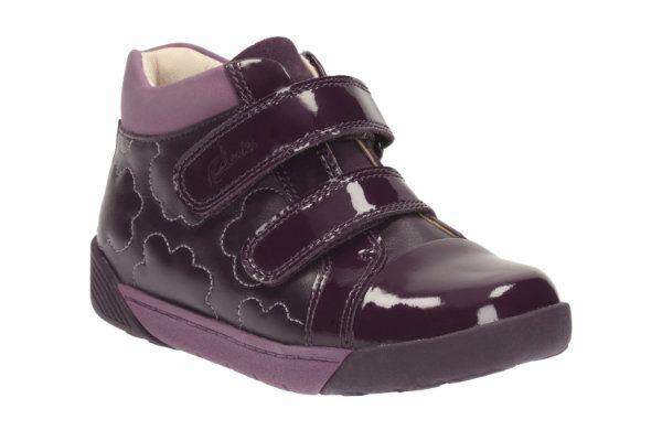Clarks Lilfolkemy Pre F Fit Purple boots