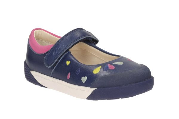 Clarks Lilfolkpeg Pre F Fit Navy everyday shoes