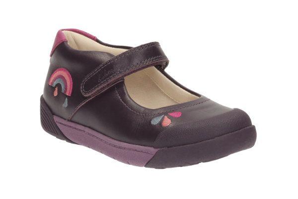 Clarks Lilfolkpip Pre F Fit Purple everyday shoes