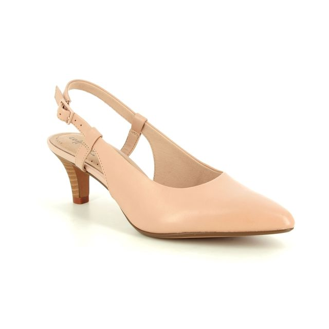 Clarks Heeled Sandals - Nude leather - 400254D LINVALE LOOP