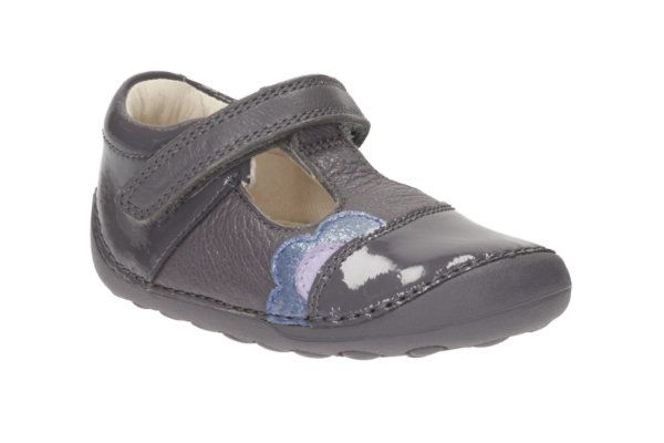 Clarks Little Caz F Fit Grey first shoes