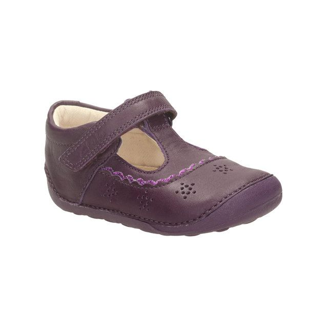 Clarks Little Ida G Fit Purple first shoes
