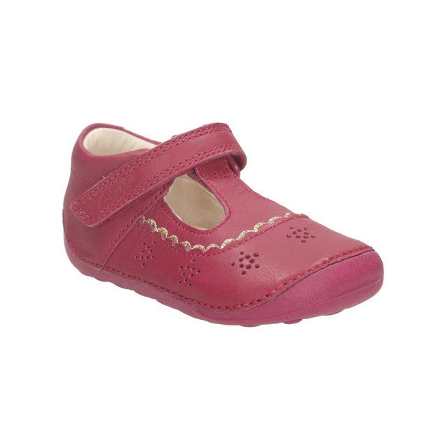 Clarks Little Ida H Fit Pink first shoes