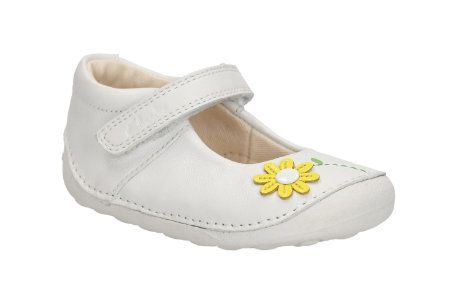 Clarks Little Jam F Fit White first shoes