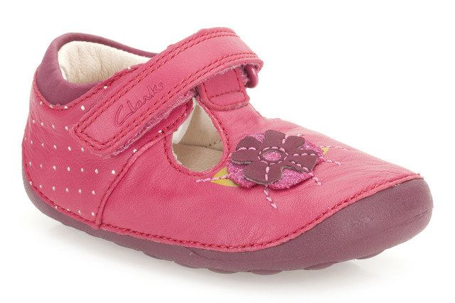 Clarks Little Poppy H Fit Pink first shoes