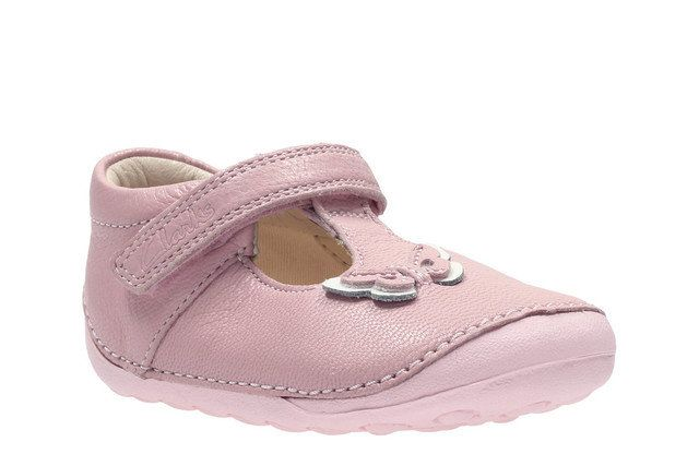Clarks Little Wow F Fit Pale pink first shoes