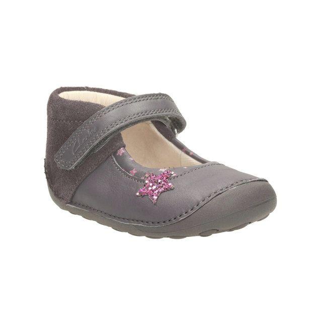 Clarks Little Zoe F Fit Grey multi first shoes