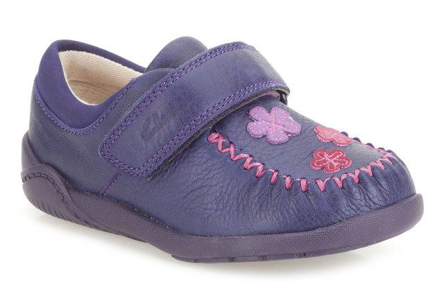 Clarks Litzy Evie Fst F Fit Purple first shoes