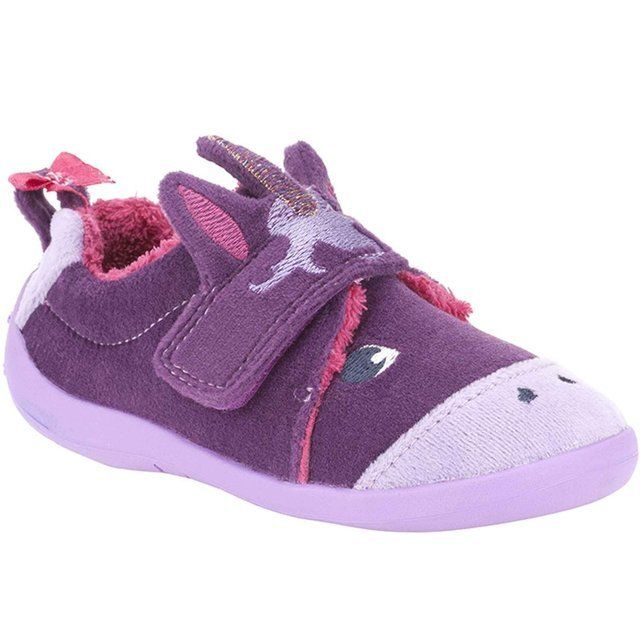 Clarks Magical Sleep F Fit Purple slippers