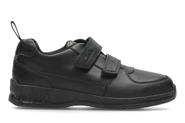 290f9aefc Clarks Hoxton Chap Bl F Fit Black school shoes