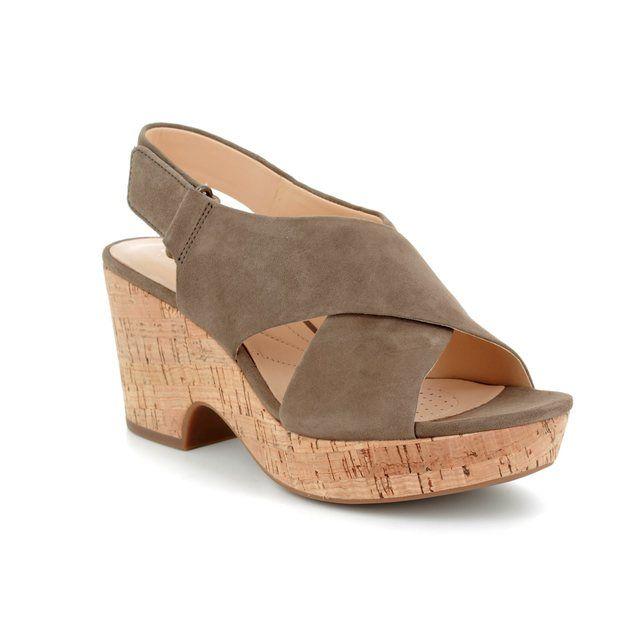 Clarks Heeled Sandals - Olive - 3381/74D MARITSA LARA