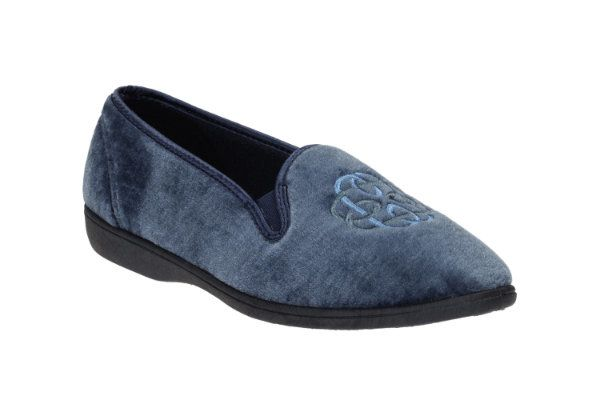 Clarks Marsha Marlo D Fit Blue slippers