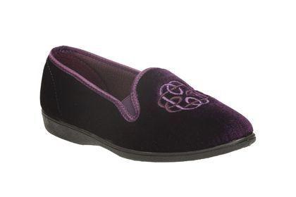 Clarks Marsha Marlo D Fit Purple slippers