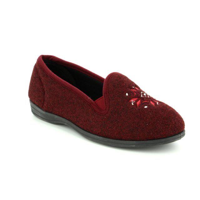 Clarks Slippers - Burgundy - 3070/14D MARSHA ROSE