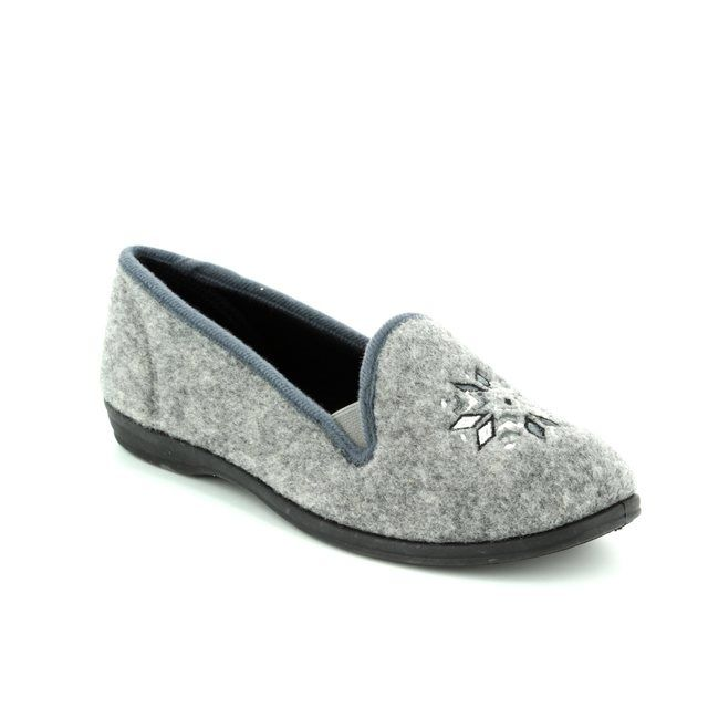 Clarks Slippers - Grey - 3041/74D MARSHA ROSE